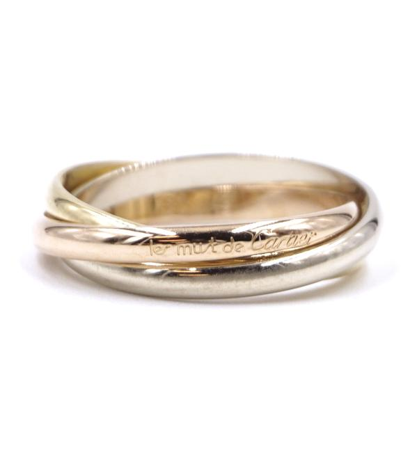 Item - #36482 Tricolor 18k Trinity White Gold Yellow Rose Pink Gold Size 49 5 Ring