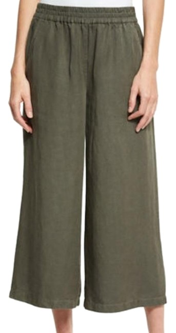 "Eileen Fisher Khaki Renew- M ""Tencel Linen Cropped Pants Size 10 (M, 31) Eileen Fisher Khaki Renew- M ""Tencel Linen Cropped Pants Size 10 (M, 31) Image 1"
