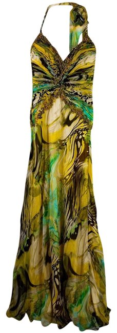 Item - Multi Colored Gown Long Formal Dress Size 2 (XS)