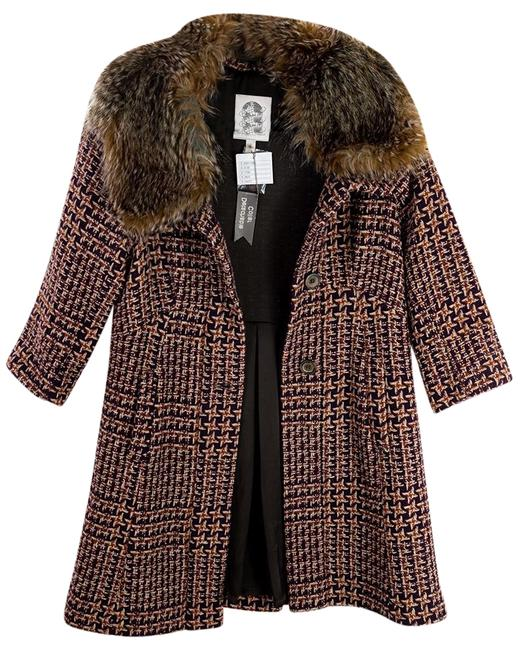 Item - Brown Multicolor Tiny Umbered Houndstooth Coat Size 2 (XS)