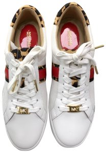 Michael Kors white, red, leopard Athletic