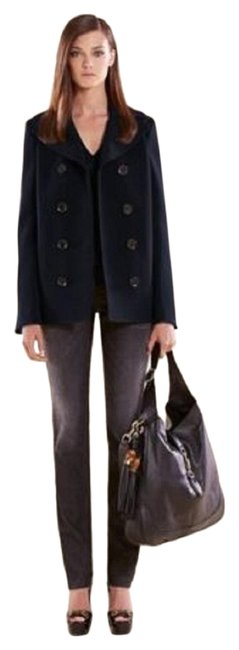 Gucci Navy Blue Techno Fabric Sailor Jacket 40 335926 4379 Coat Size 4 (S) Gucci Navy Blue Techno Fabric Sailor Jacket 40 335926 4379 Coat Size 4 (S) Image 1
