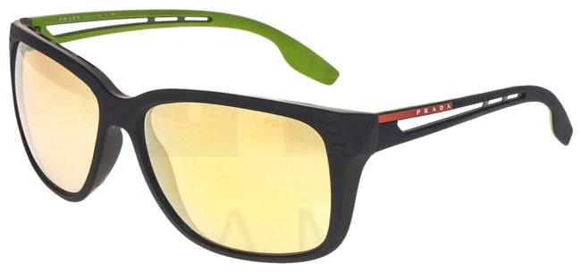 Item - Black Green Yellow 03t Linea Rossa Ps03ts Rubber Sport Sunglasses