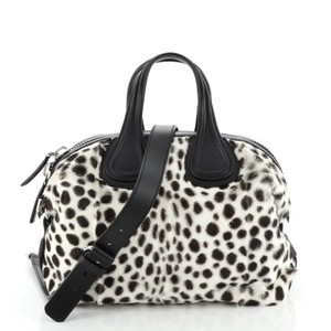 Givenchy Nightingale Calf Hair Satchel in White