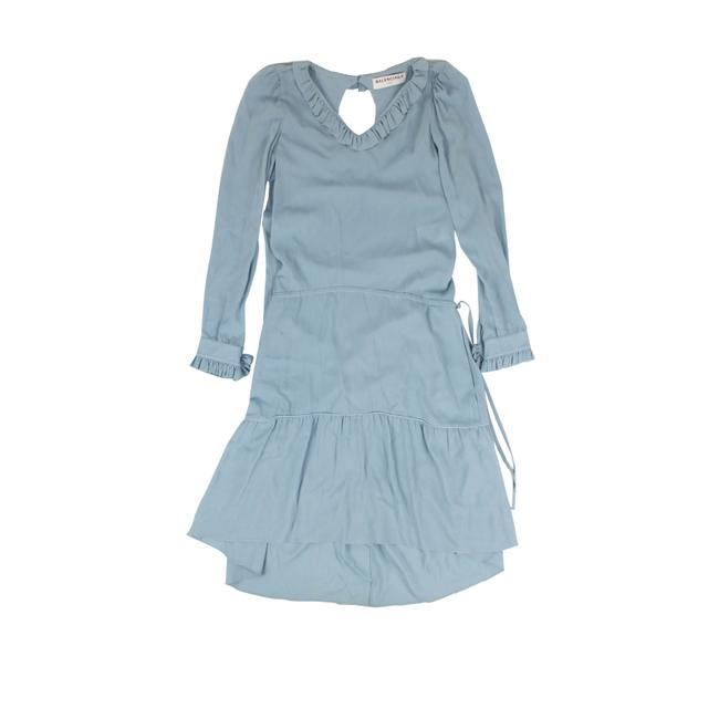 Item - Light Blue Georgette Long Sleeve Mid-length Formal Dress Size 2 (XS)