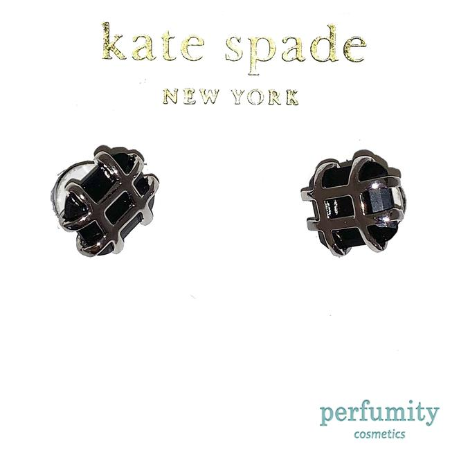Kate Spade Silver and Black New York Plated Resin Stones Simple Earrings Kate Spade Silver and Black New York Plated Resin Stones Simple Earrings Image 1