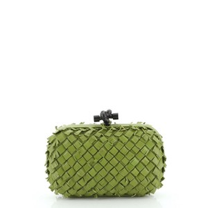 Bottega Veneta Box Leather Green Clutch
