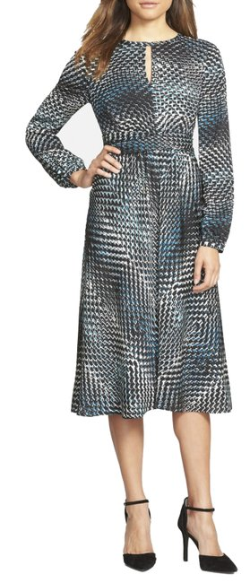Item - Multicolor Chevron Print Keyhole New with Tags Mid-length Work/Office Dress Size 2 (XS)