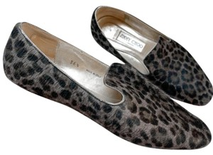 Jimmy Choo Animal Cat Cheetah Comfortable Grey Flats