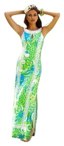 blue & green Maxi Dress by Lilly Pulitzer