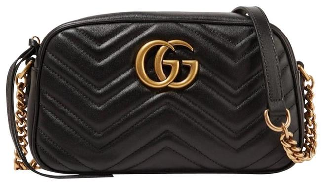 Item - GG Crossbody Marmont New Purse Black Leather Shoulder Bag