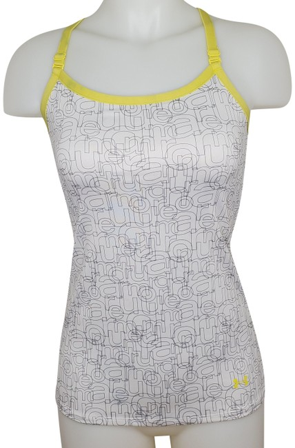 Item - White Gray Yellow Heat Gear Tank Activewear Top Size 4 (S)