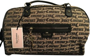 Juicy Couture Duffel Overnight Beige Black Gothic Travel Bag