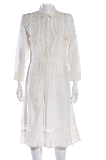 Item - Ivory Mid-length Short Casual Dress Size 6 (S)