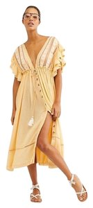 Free People short dress Yellow Boho Bohemian Festival on Tradesy