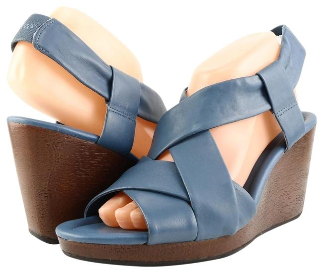 Item - Blue Air Dinah Leather Strappy Wedges Sandals Size US 9.5 Regular (M, B)