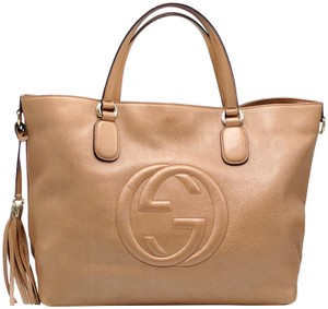 Gucci Tassel Soho Double G Gg Leather Tote