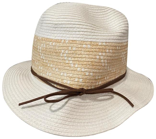Item - White/Tan with Brown Bow Tie Style: 570261713 Hat