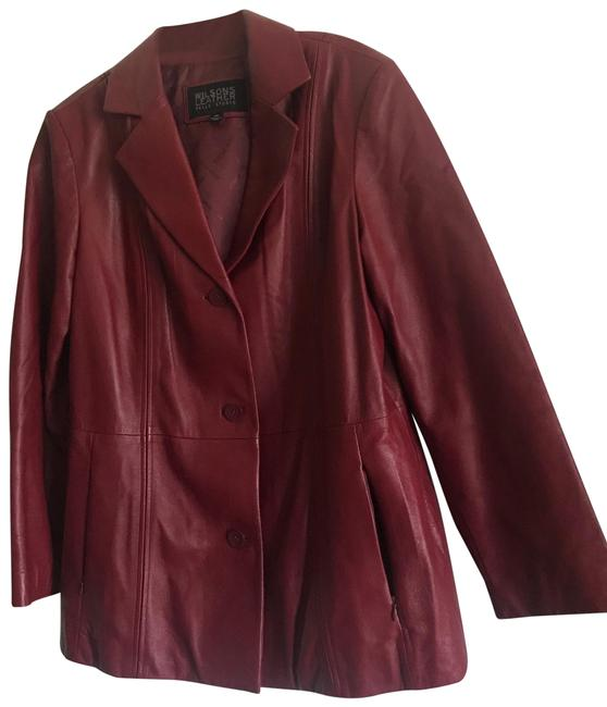 Item - Burgundy Pelle Studio Button Down Jacket Size 20 (Plus 1x)
