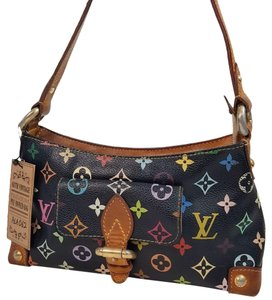 Louis Vuitton black multicolor Clutch