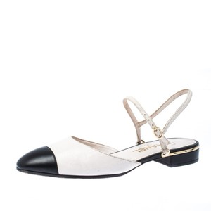 Chanel Leather Ankle Strap White Sandals