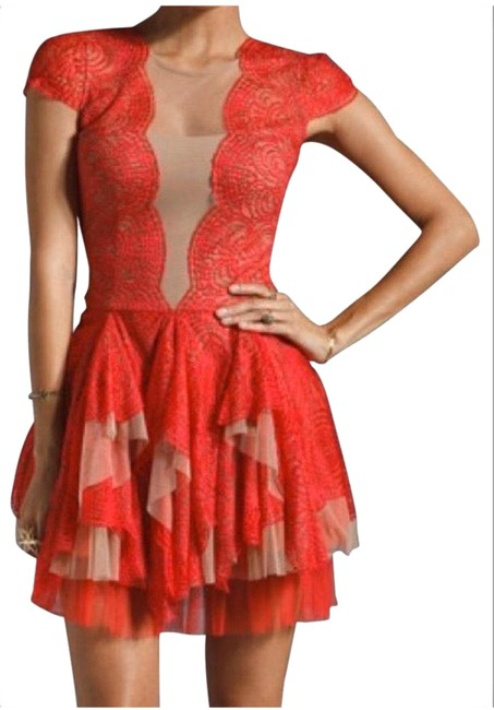 Item - Red Rochelle Cocktail Dress Size 10 (M)