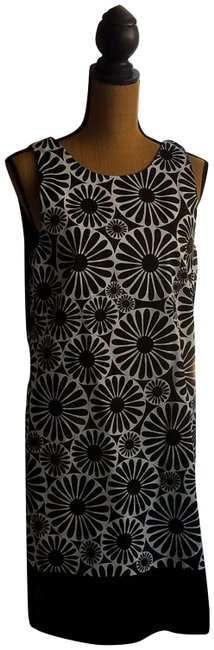 Item - Black / White Lizzai-maggy Mid-length Night Out Dress Size 12 (L)
