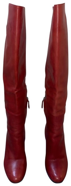 Item - Burgundy Leather Boots/Booties Size US 6.5 Regular (M, B)
