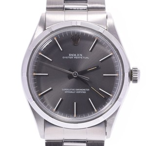 Rolex ROLEX Oyster Perpetual Antique 1003 Boys SS Watch Automatic Gray Dial