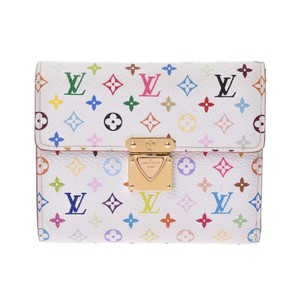 Louis Vuitton Louis Vuitton Multicolor Koala White M58014 Ladies Monogram Tri-Fold Wallet