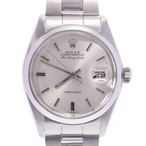Rolex ROLEX Air King Date Antique 5700 Boys SS Watch Automatic Silver Dial