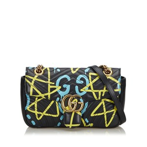 Gucci 9fgucx021 Vintage Leather Cross Body Bag