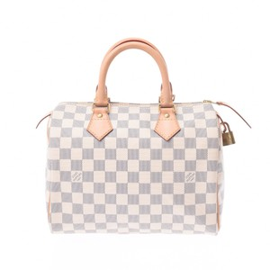 Louis Vuitton Satchel in Damier Azur / White