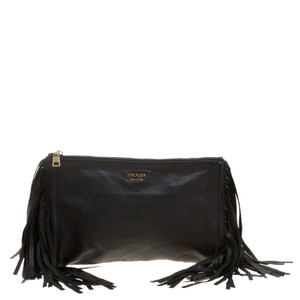 Prada Leather Black Clutch