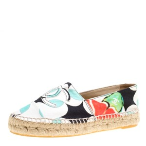 Chanel Canvas Leather Multicolor Flats