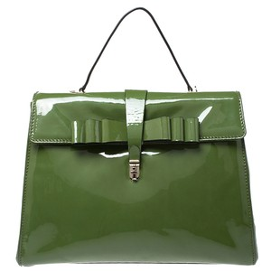 Valentino Patent Leather Tote in Green