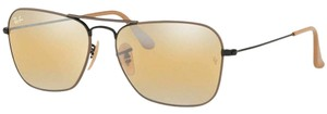 Ray-Ban Yellow Gradient Mirrored Lens Rb3136 9153ag Unisex Aviator