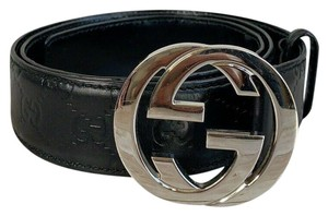 Gucci GUCCI GG Interlocking Buckle Guccissima Leather Belt 95/38 114984