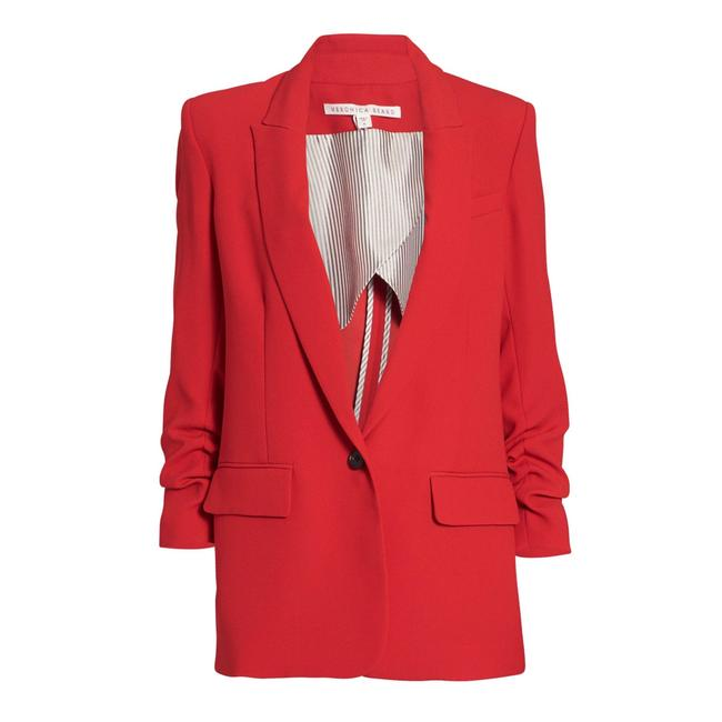 Item - Red Graham Dickey Ruched Sleeves Blazer Size 2 (XS)