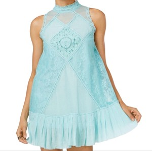 Free People short dress aqua on Tradesy