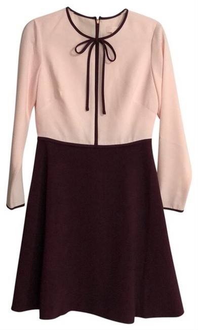 Item - Pink and Maroon Bow Mid-length Work/Office Dress Size 6 (S)
