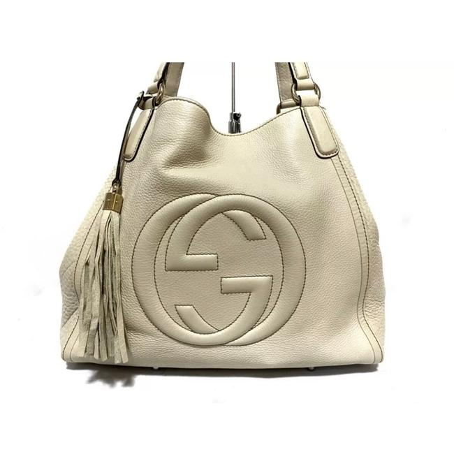 Item - Bag Soho White Leather Tote
