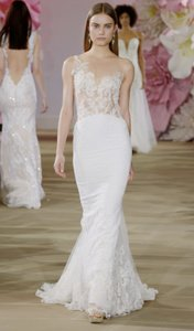 Ines Di Santo Cameo Pink Embroidered Tulle Rapture Sexy Wedding Dress Size 8 (M)