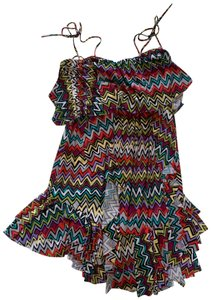 T-Bags Los Angeles short dress Multicolored on Tradesy