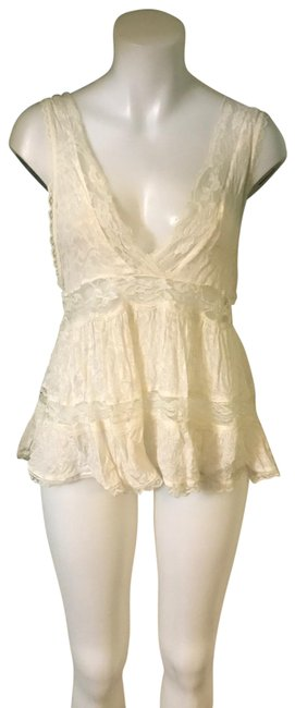 Free People Creme Lace Szs Top Free People Creme Lace Szs Top Image 1