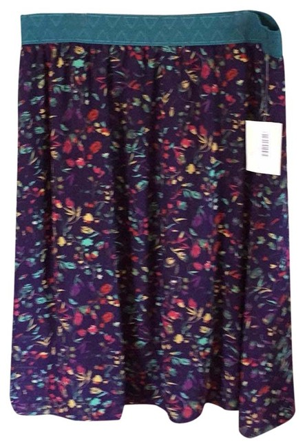 Item - Purple and Green Lola Skirt Size 26 (Plus 3x)