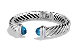 David Yurman David Yurman 10mm Waverly Blue Topaz Bracelet