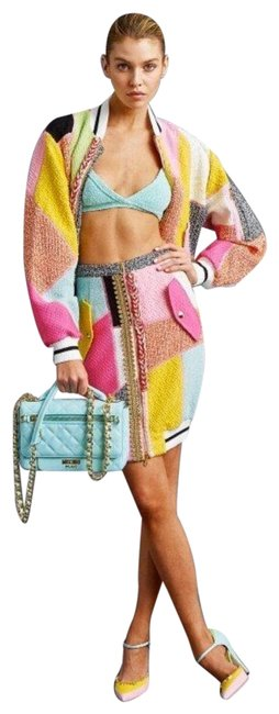 Item - Multicolor Ss16 Couture Jeremy Scott Patchwork *gigi Hadid* Deadstock Skirt Size 2 (XS, 26)