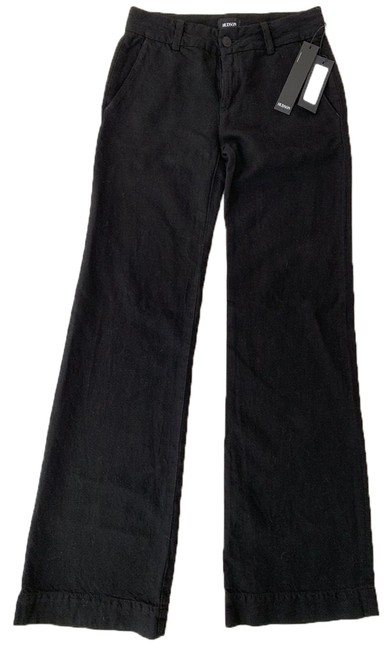 Item - Black Dark Rinse Nico Trouser/Wide Leg Jeans Size 00 (XXS, 24)