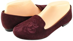 DV by Dolce Vita Comfortable Embroidered Bordeaux Flats